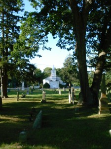 Church view from Union Cemetery